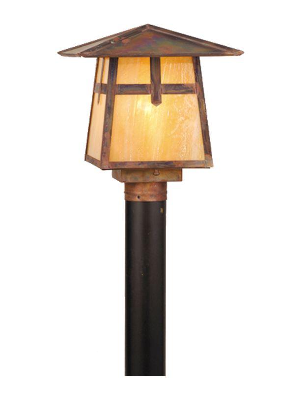 "Meyda Tiffany 54678 11.5"" Square Stillwater Cross Mission Post Mount"