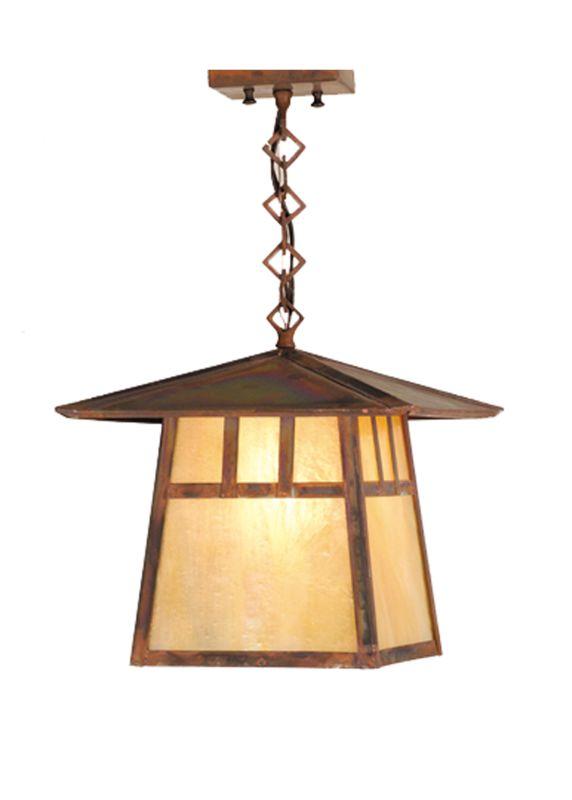 """Meyda Tiffany 54754 12"""" Square Stillwater Double Bar Mission Ceiling"""
