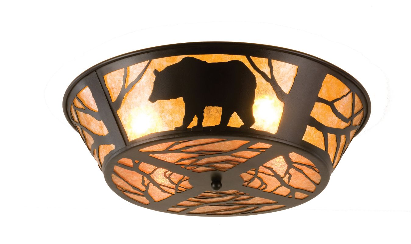 "Meyda Tiffany 66209 22"" W Bear On The Loose Flush Mount Ceiling"