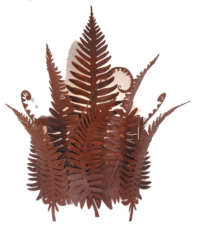 "Meyda Tiffany 67834 20"" W Fern Wall Sconce Rust Indoor Lighting Wall"
