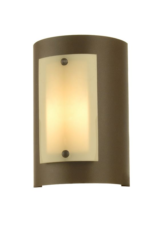 "Meyda Tiffany 70715 8"" W Panera Wall Sconce Cafe Noir / Ivory Indoor"