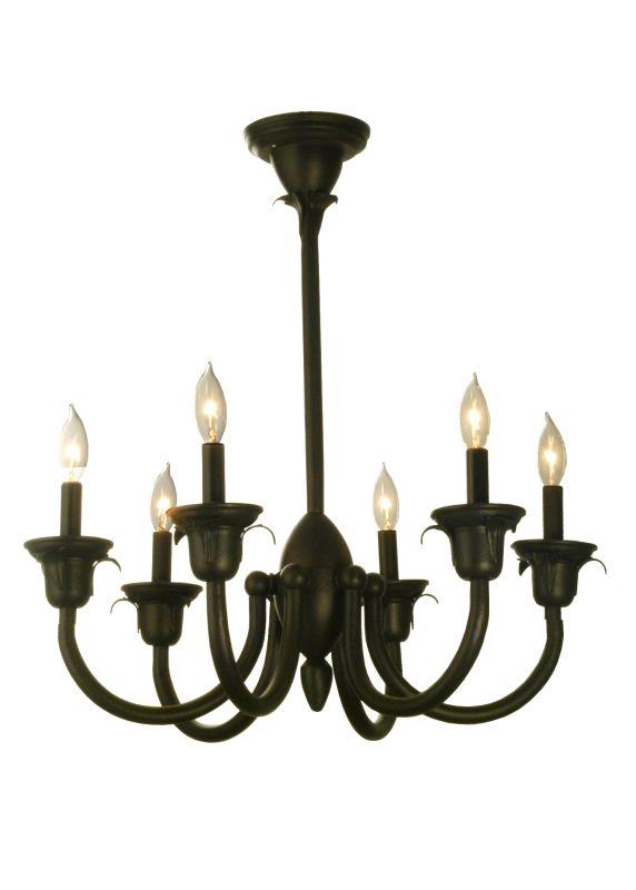 """Meyda Tiffany 71232 27"""" W Rhythm 6 Light Chandelier Dark Roast Indoor"""