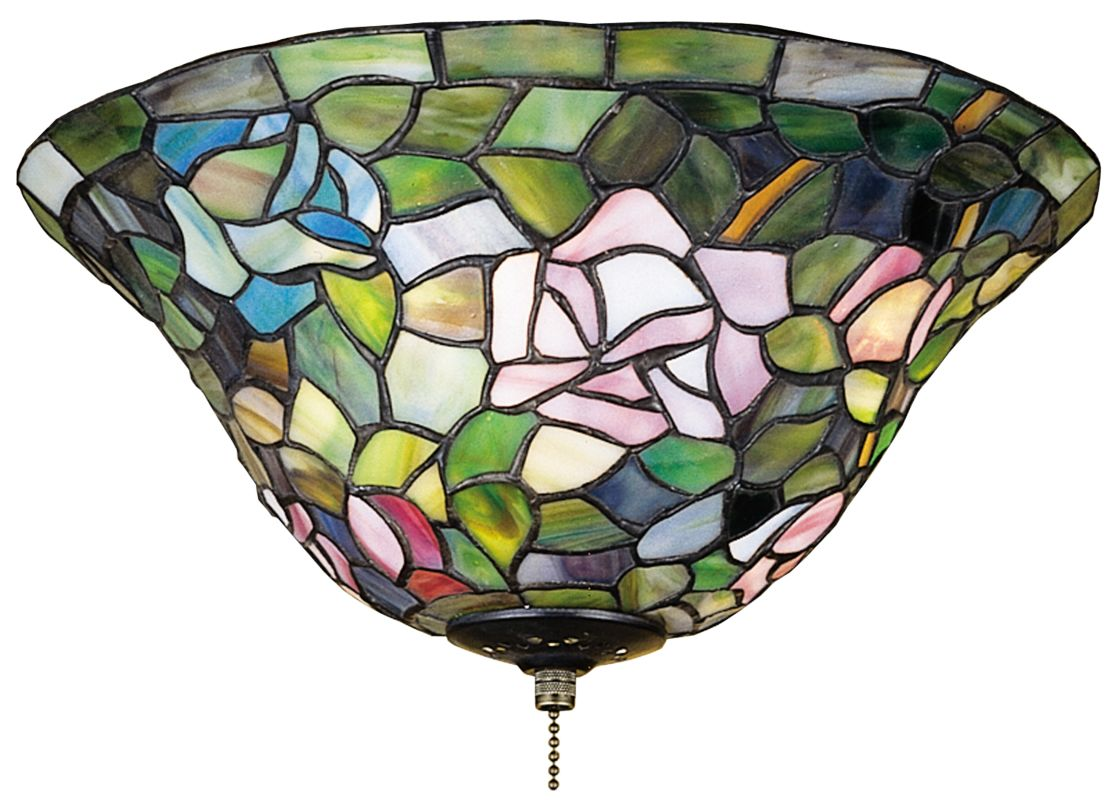 "Meyda Tiffany 71427 12"" W Tiffany Rosebush Flush Mount Ceiling Fixture"