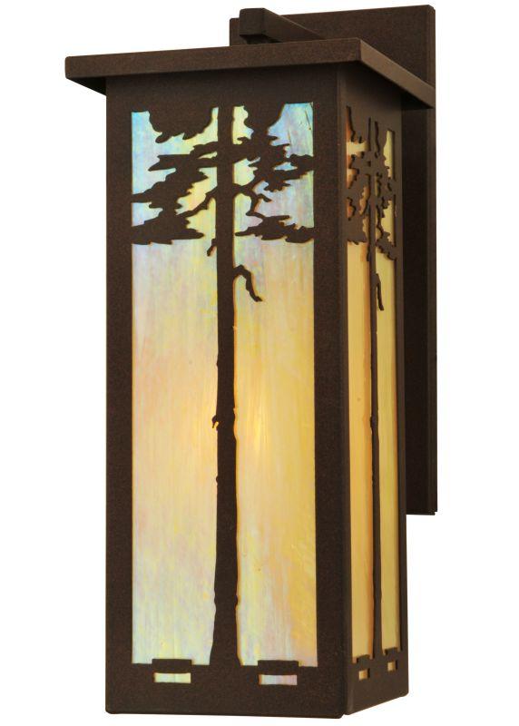 """Meyda Tiffany 79918 7.5"""" W Tamarack Wall Sconce Cafe Noir Indoor"""