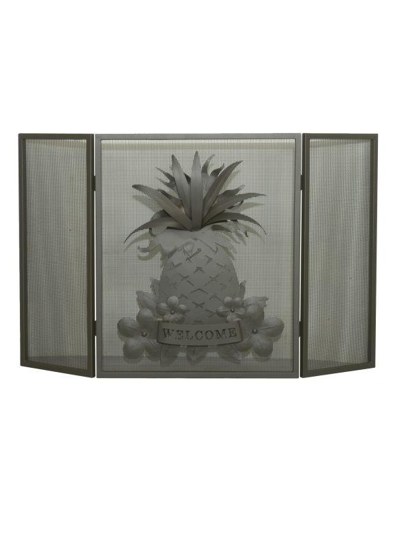 """Meyda Tiffany 81084 49"""" W X 30"""" H Welcome Pineapple Folding Fireplace"""