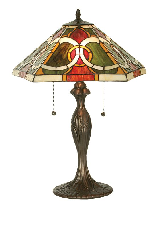 "Meyda Tiffany 81457 22.5"" H Moroccan Table Lamp Beige Burgundy Lamps"