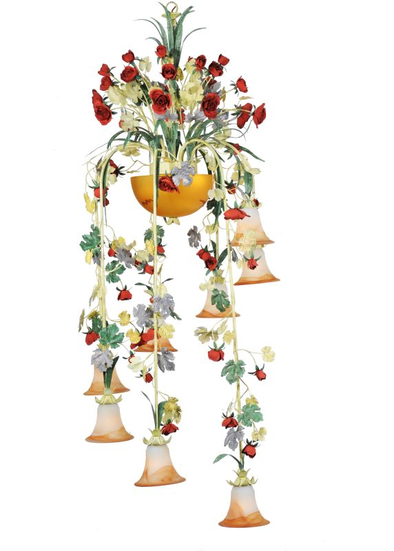 "Meyda Tiffany 82808 36"" W Symphony Meadow Celebration 8 Light"