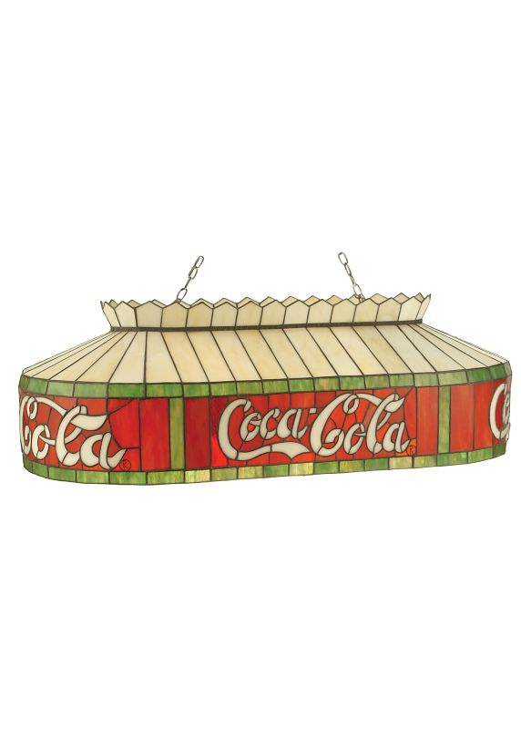 "Meyda Tiffany 98072 32"" L Coca-Cola Island / Billiard Fixture Flame"