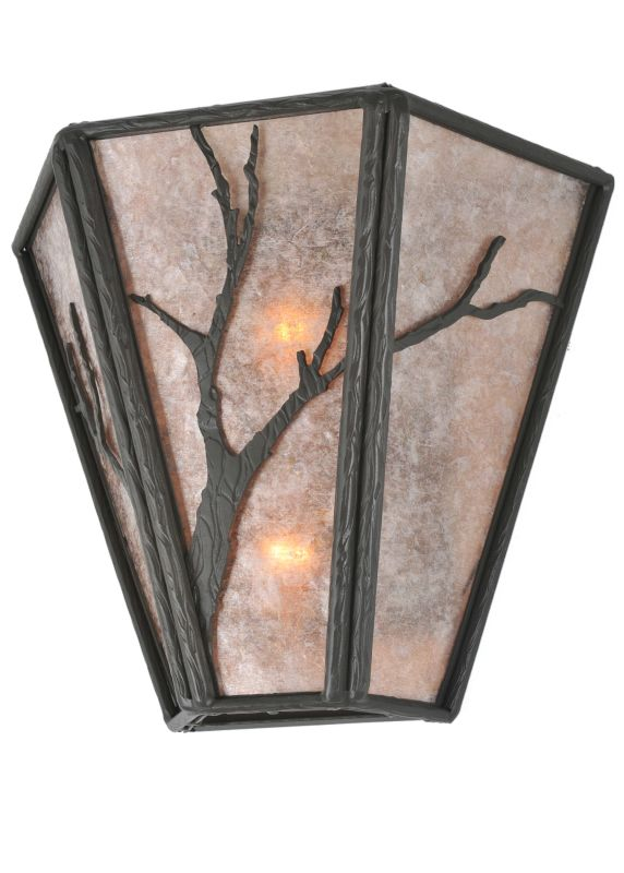 "Meyda Tiffany 99385 14"" W Branches Wall Sconce Timeless Bronze /"