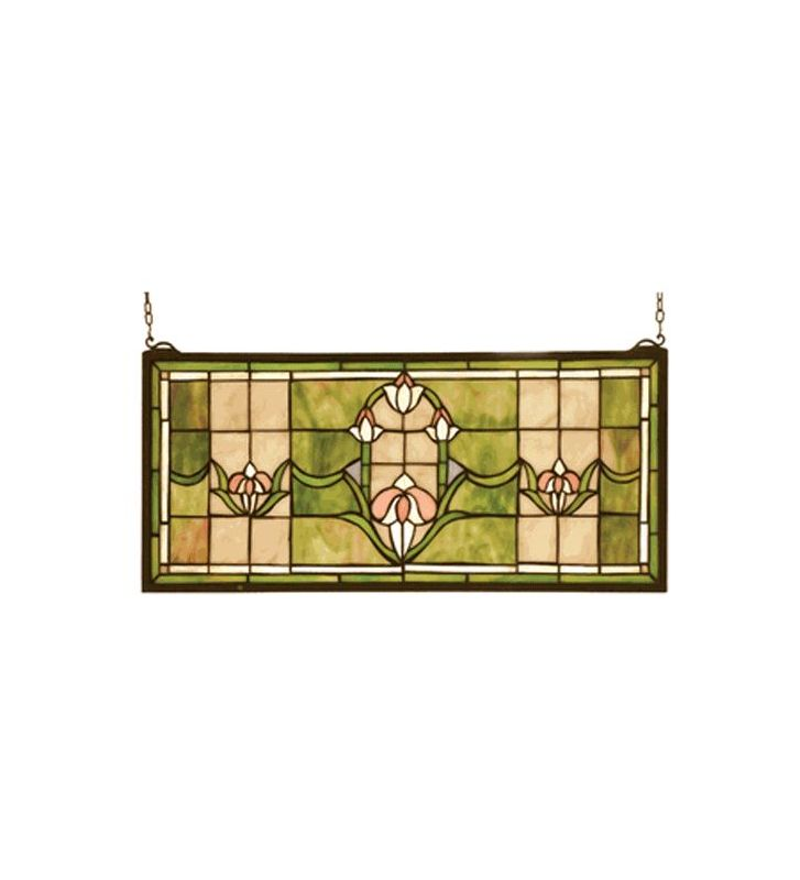Meyda Tiffany 98463 Stained Glass Tiffany Window from the Arts & Sale $250.20 ITEM: bci284336 ID#:98463 UPC: 705696984633 :