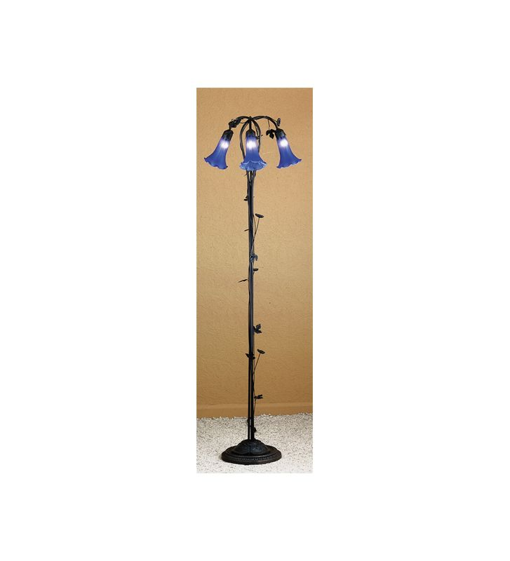 Meyda Tiffany 31333 Floor Lamp from the Lilies Collection Blue Lamps