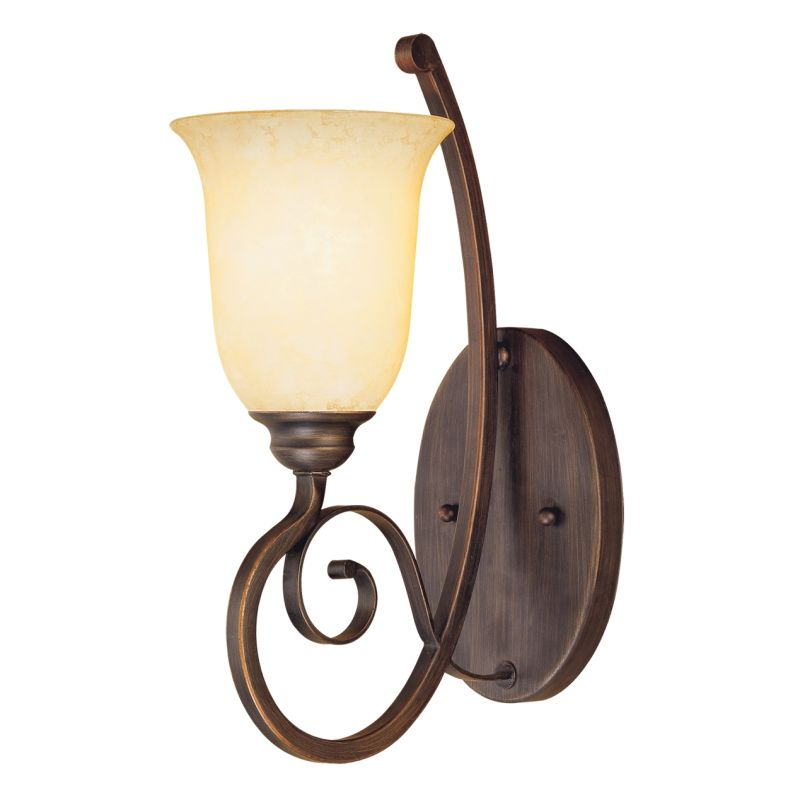 Millennium Lighting 1051 Chateau 1 Light Indoor Wall Sconce Rubbed