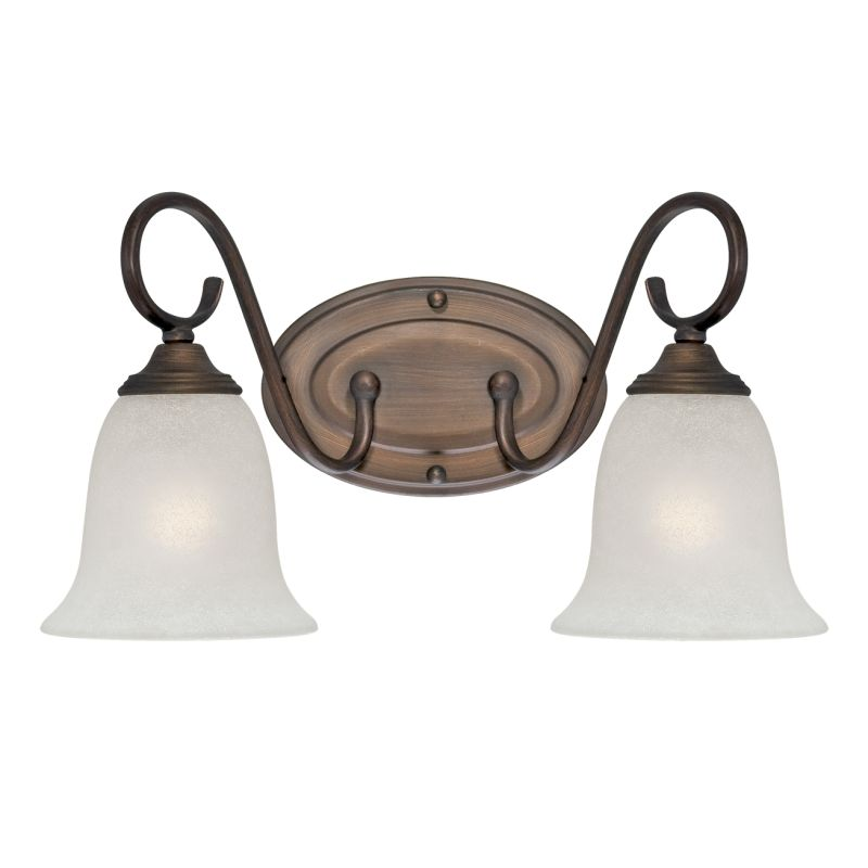 Millennium Lighting 1182 2 Light Bathroom Vanity Light Rubbed Bronze