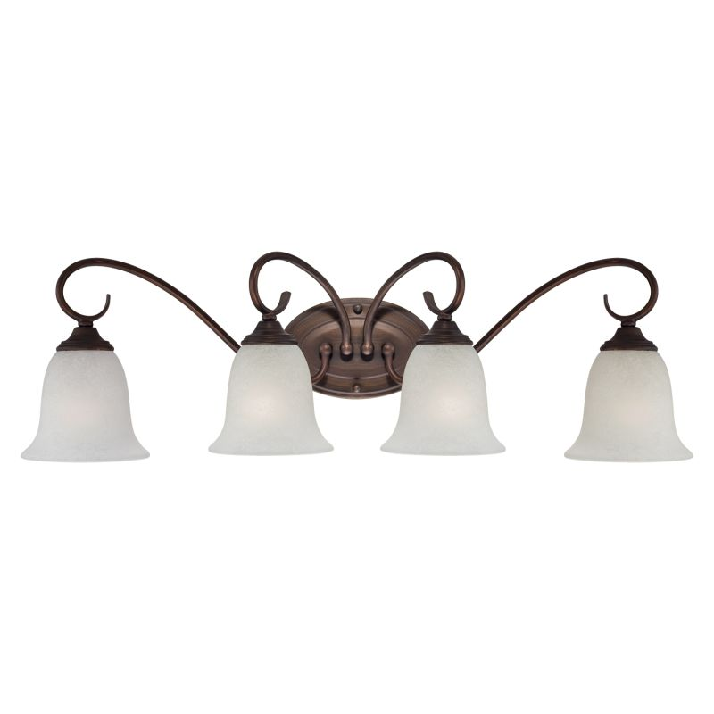 Millennium Lighting 1184 4 Light Bathroom Vanity Light Rubbed Bronze