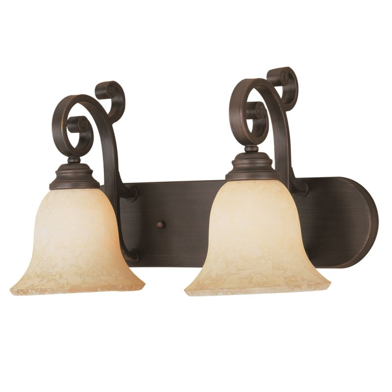 Millennium Lighting 1242 Oxford 2 Light Bathroom Vanity Light Rubbed