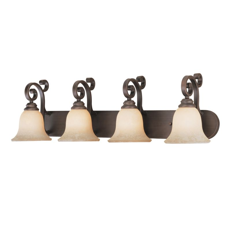 Millennium Lighting 1244 Oxford 4 Light Bathroom Vanity Light Rubbed