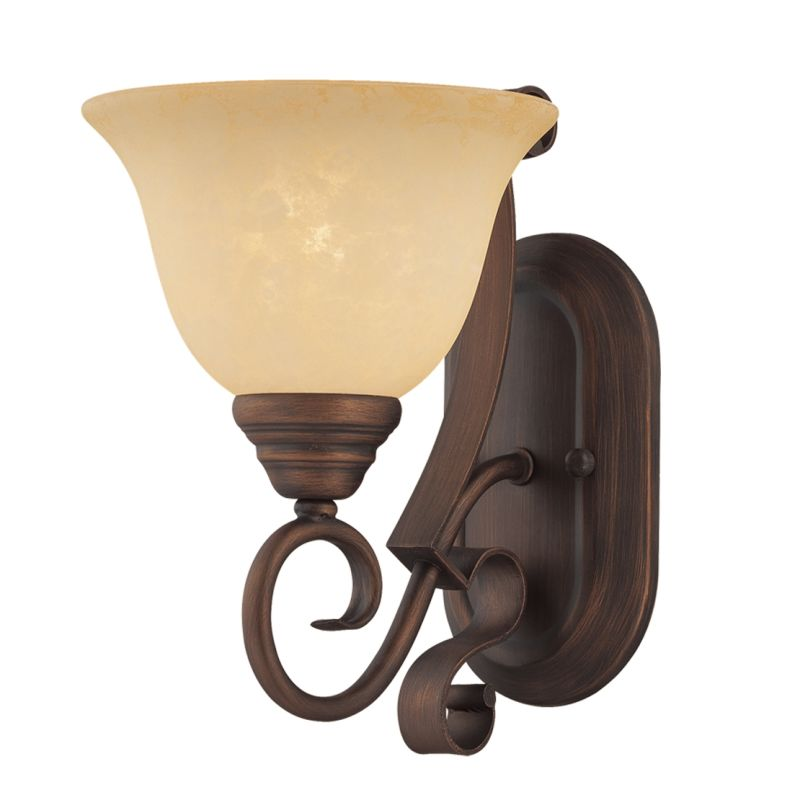 Millennium Lighting 1261 Auburn 1 Light Indoor Wall Sconce Rubbed