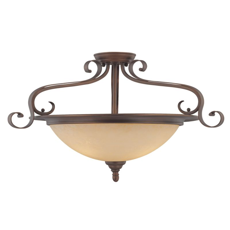 Millennium Lighting 1263 Auburn 3 Light Semi-Flush Ceiling Fixture Sale $153.90 ITEM: bci2231156 ID#:1263-RBZ UPC: 842639009517 :