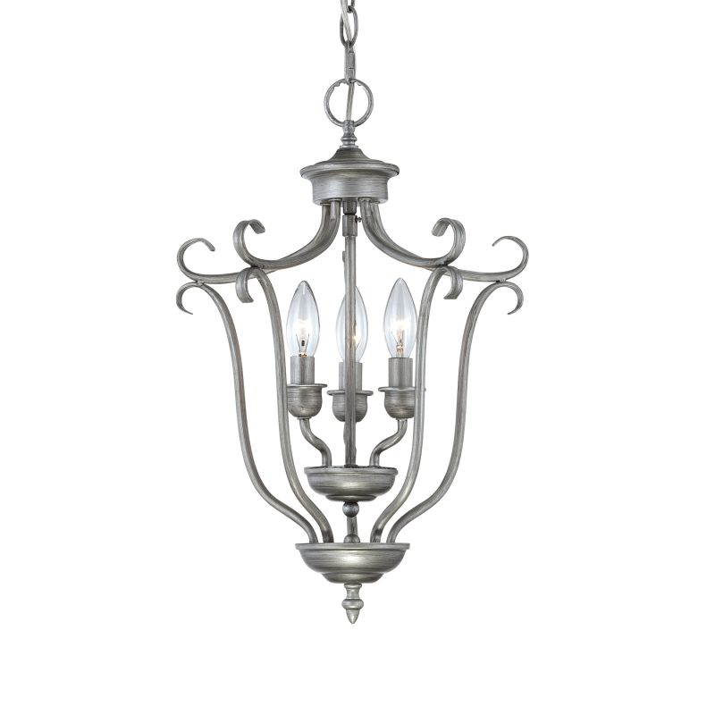 Millennium Lighting 1333 Fulton 3 Light Pendant Rubbed Silver Indoor Sale $105.90 ITEM: bci2231162 ID#:1333-RS UPC: 842639012661 :