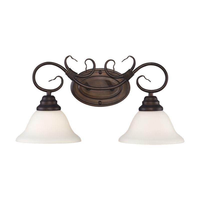Millennium Lighting 1392 2 Light Bathroom Vanity Light Rubbed Bronze