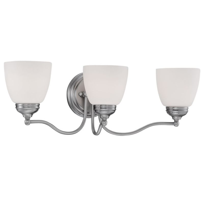 Millennium Lighting 1453 Hastings 3 Light Bathroom Vanity Light Pewter