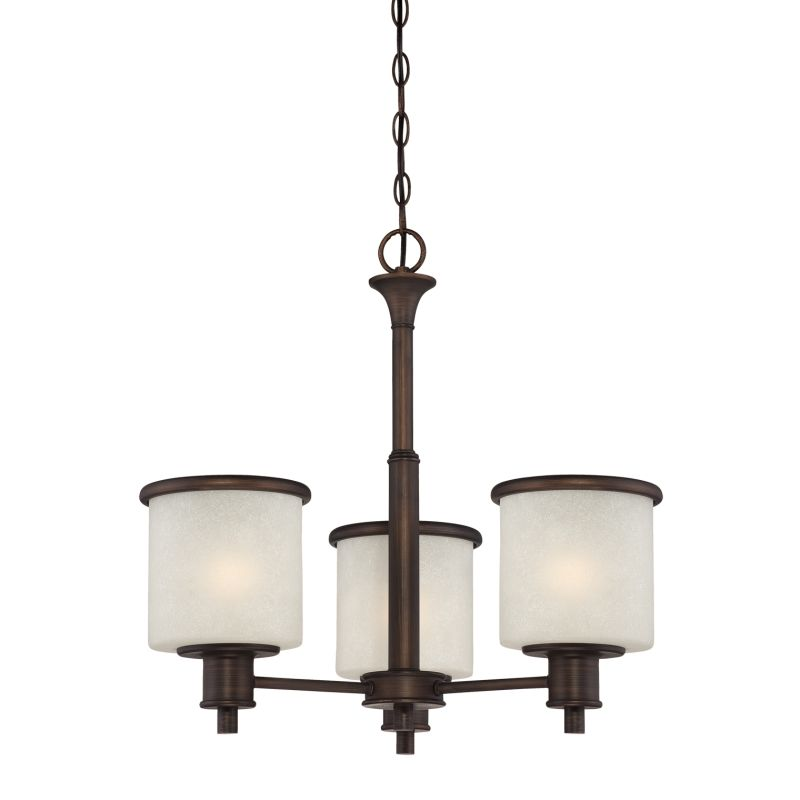 Millennium Lighting 1503 Dalton 3 Light Single Tier Chandelier Rubbed