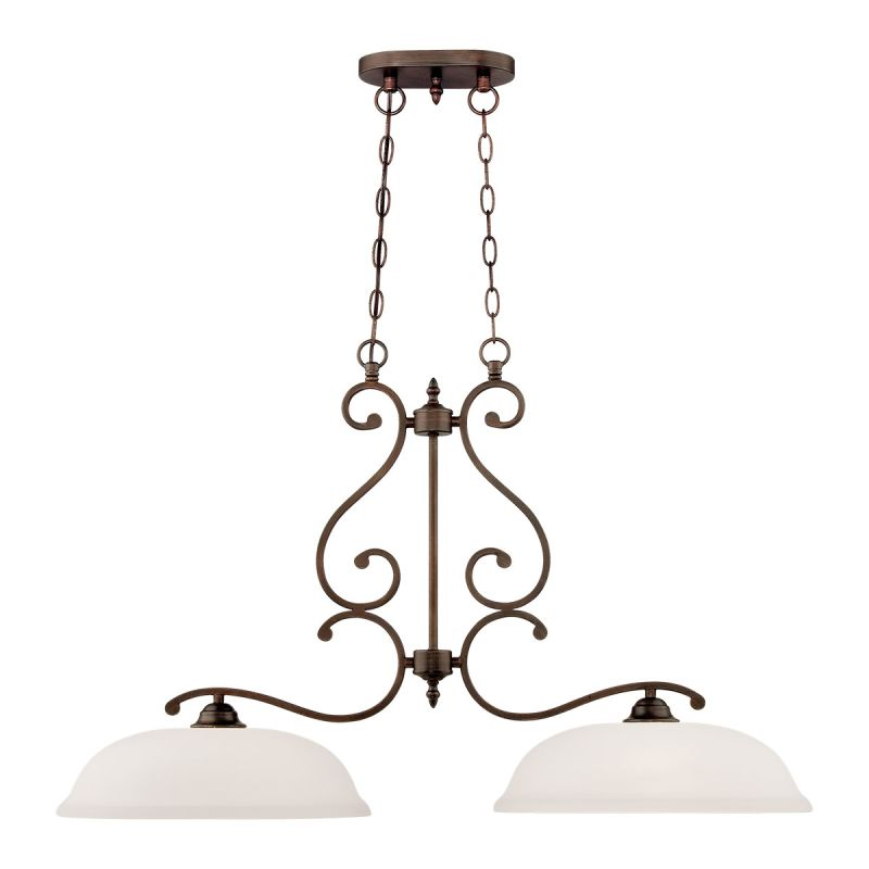 Millennium Lighting 1552 Courtney Lakes 2 Light 1 Tier Chandelier