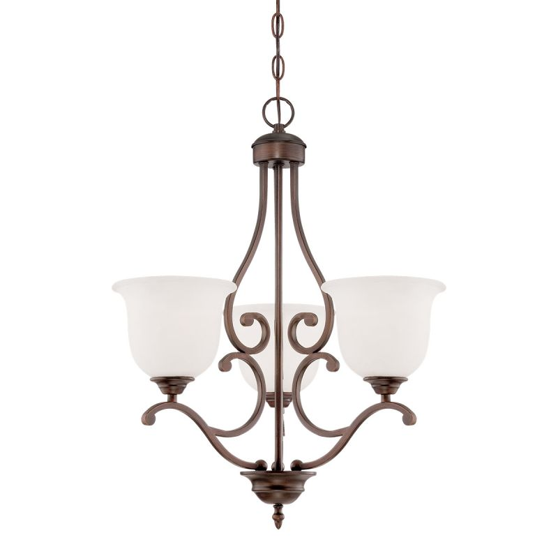 Millennium Lighting 1553 Courtney Lakes 3 Light 1 Tier Chandelier