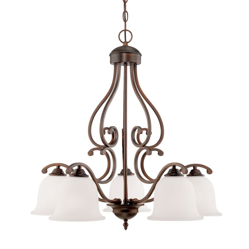 Millennium Lighting 1565 Courtney Lakes 5 Light 1 Tier Chandelier