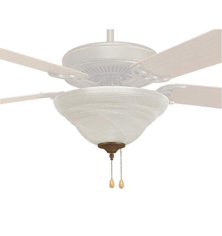 Millennium Lighting 1712 3 Light Fan Light Kit Faux Alabaster Fan