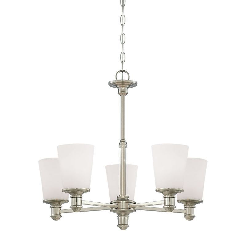 Millennium Lighting 2155 Cimmaron 5 Light 1 Tier Chandelier Satin Sale $199.90 ITEM: bci2353802 ID#:2155-SN UPC: 842639014207 :