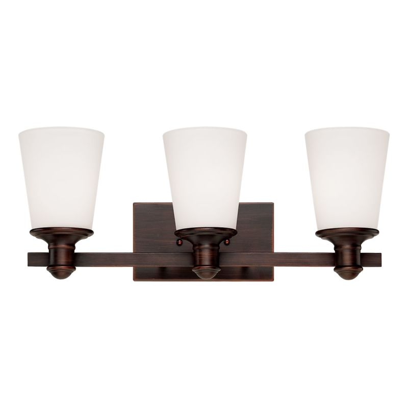 Millennium Lighting 2163 Cimmaron 3 Light Bathroom Vanity Light Rubbed