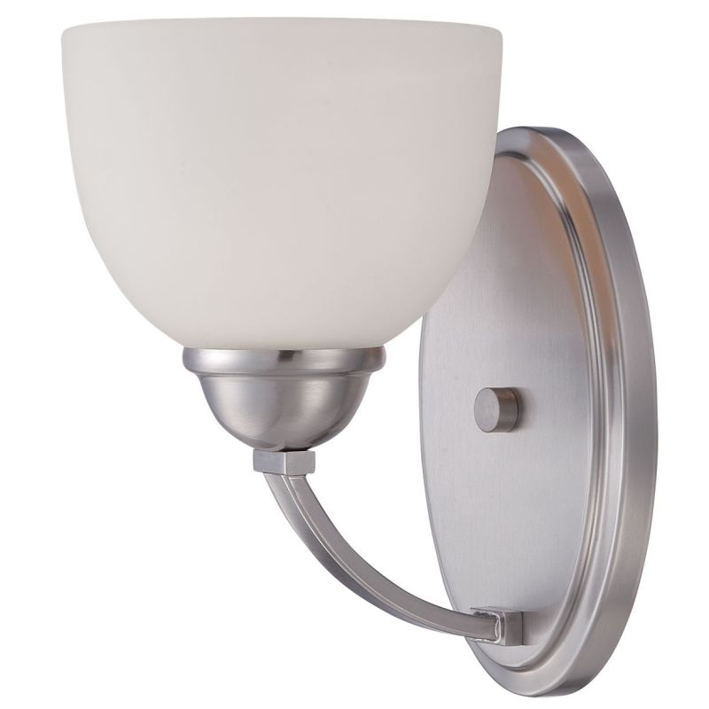 Millennium Lighting 2201 Camden 1 Light Wall Sconce With Shade Brushed