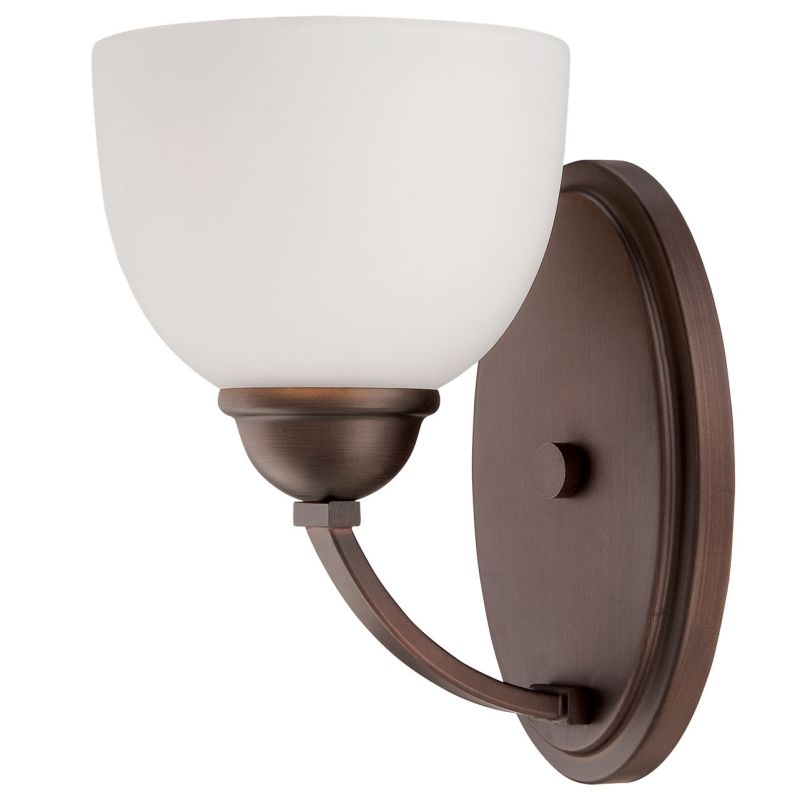 Millennium Lighting 2201 Camden 1 Light Wall Sconce With Shade Rubbed