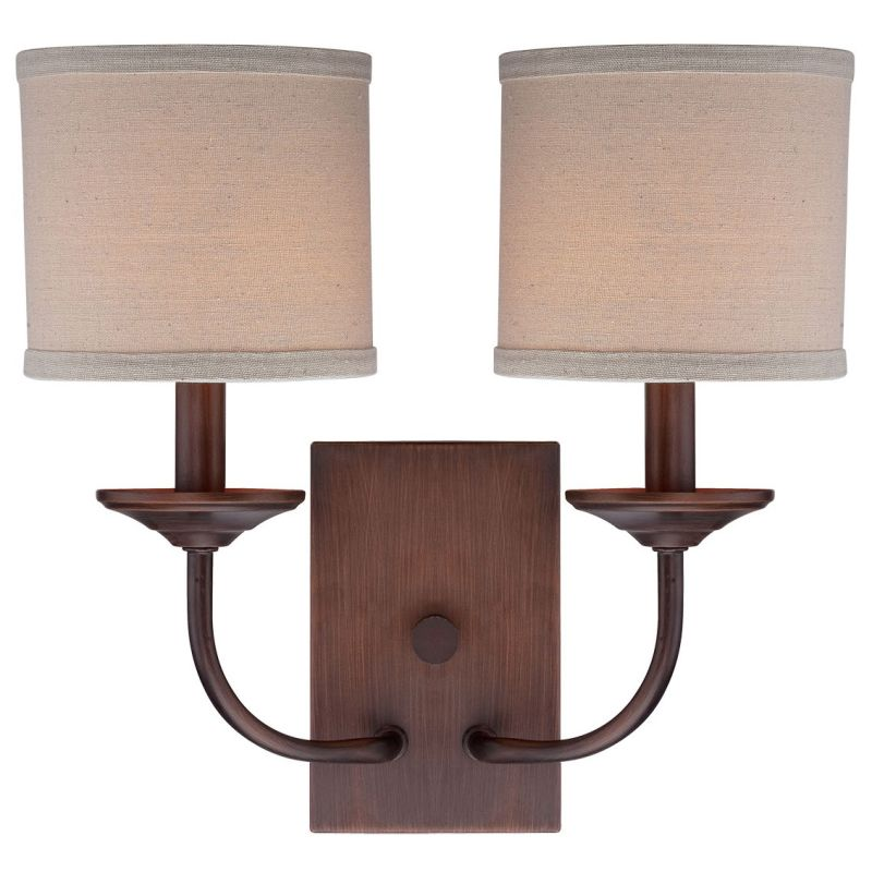 Millennium Lighting 3112 Jackson 2 Light Wall Sconce With Shade Rubbed