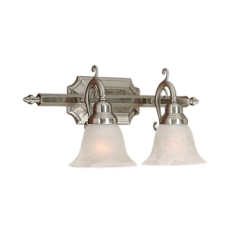 Millennium Lighting 372 2 Light Bathroom Vanity Light Satin Nickel