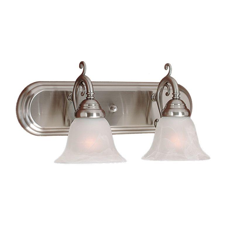 Millennium Lighting 382 2 Light Bathroom Vanity Light Satin Nickel