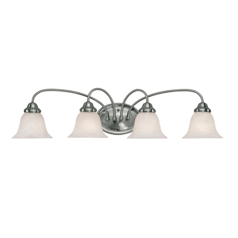 Millennium Lighting 414 4 Light Bathroom Vanity Light Satin Nickel
