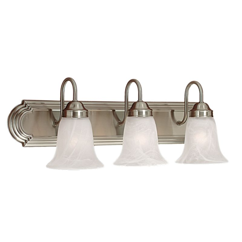 Millennium Lighting 483 3 Light Bathroom Vanity Light Satin Nickel