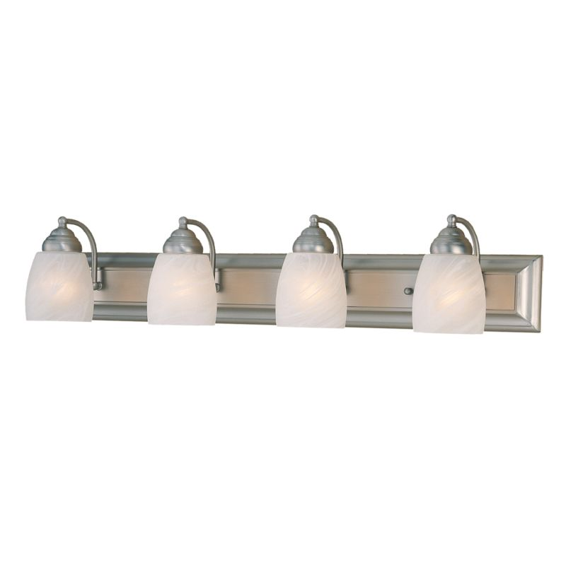 Millennium Lighting 5004 4 Light Bathroom Vanity Light Satin Nickel