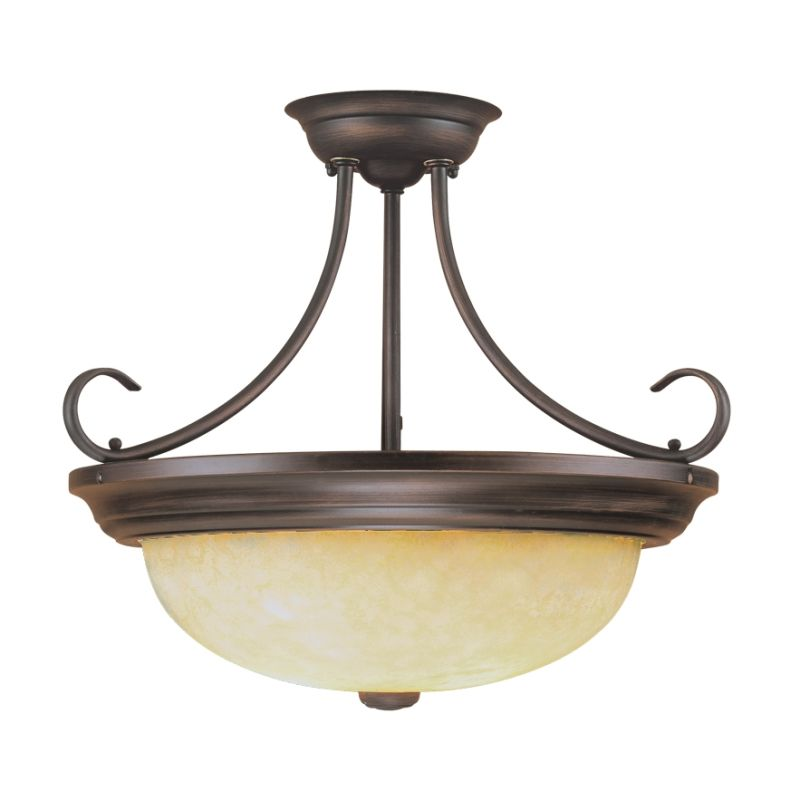 Millennium Lighting 5205 3 Light Semi-Flush Ceiling Fixture Rubbed Sale $65.90 ITEM: bci2231441 ID#:5205-RBZ UPC: 842639007018 :
