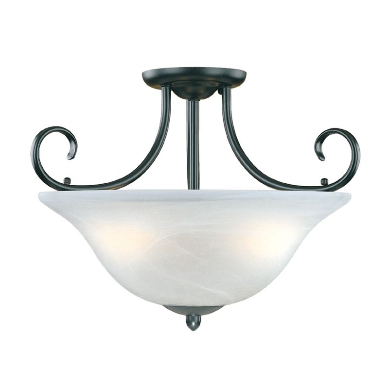 lighting 53 bk black main street 3 light semi flush ceiling fixture