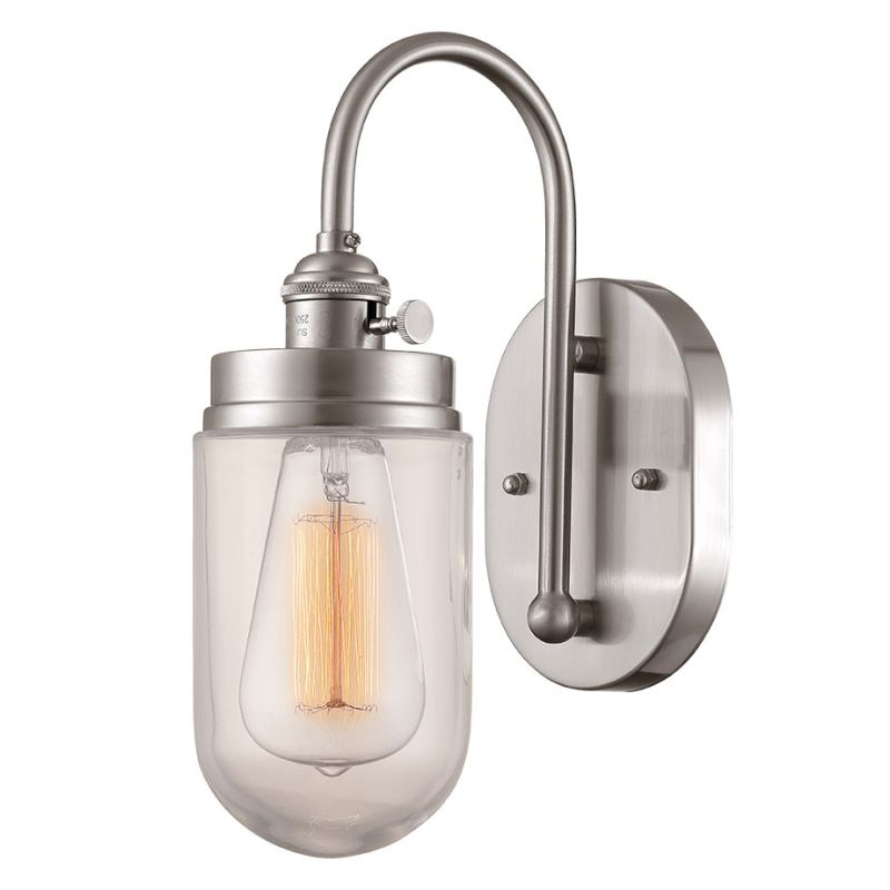 Millennium Lighting 5309 Neo-Industrial 1 Light Wall Sconce Brushed