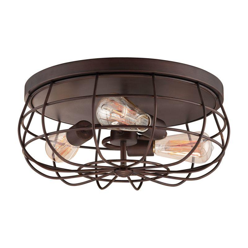 Millennium Lighting 5323 Neo-Industrial 3 Light Flush Mount Ceiling Sale $139.90 ITEM: bci2353844 ID#:5323-RBZ UPC: 842639014351 :