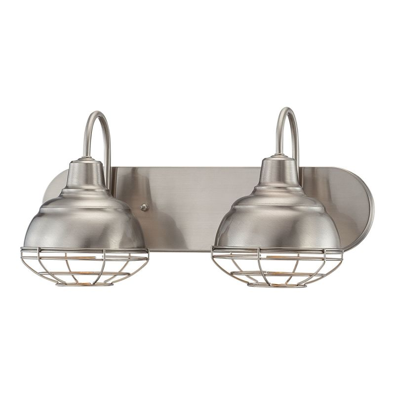 millennium lighting 5422 sn satin nickel neo industrial 2 light. Black Bedroom Furniture Sets. Home Design Ideas