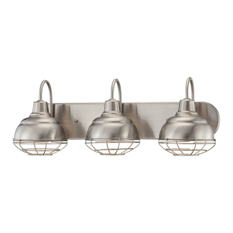 Millennium Lighting 5423 Sn Satin Nickel Neo Industrial 3 Light Bathroom Vanity Light