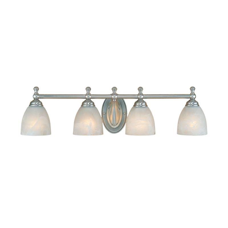 Millennium Lighting 604 4 Light Bathroom Vanity Light Satin Nickel