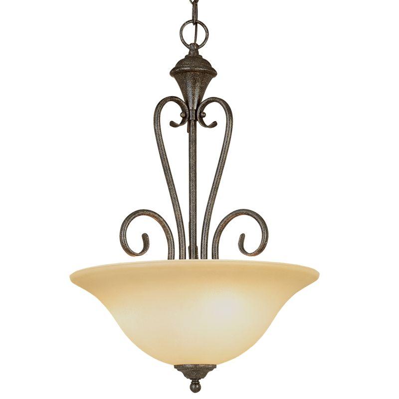 Millennium Lighting 6063 Devonshire 3 Light Pendant Burnished Gold