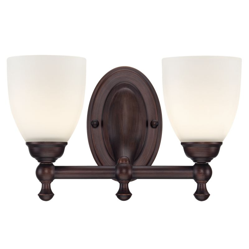 Millennium Lighting 622 2 Light Bathroom Vanity Light Rubbed Bronze