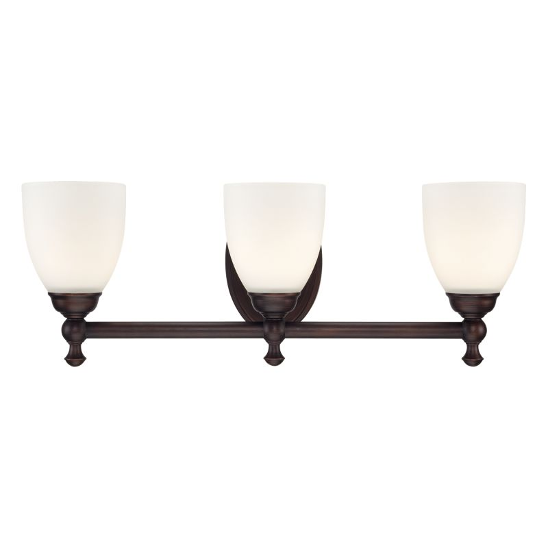 Millennium Lighting 623 3 Light Bathroom Vanity Light Rubbed Bronze
